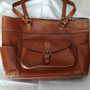 Patricia Nash leather shoulder handbag